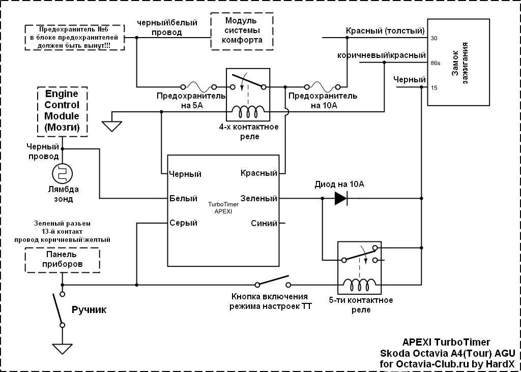 Схема переделанная под Skoda